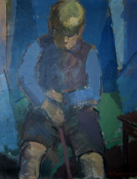 Jørgen Gammelgaard, 1937, malet af sin far, Albert Gammelgaard